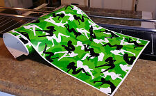 "GIRL CAMO DECAL MADE FROM 3M WRAP VINYL 48""x15"" TRUCK CAMO TREE PRINT CAMOUFLAGE"