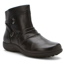 New Walking Cradles Womens Zinc Black Leather Cushioning Zip Up Ankle Boots 8.5
