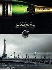 PUBLICITE ADVERTISING 116  2011   le champagne Nicolas Feuillatte Tour Eiffel