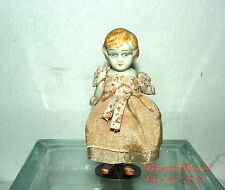 ANTIQUE JAPAN 30's BISQUE DOUBLE JOINTED WEARING SPECTACLE MINIATURE GIRL DOLL