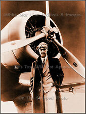 Poster Print: Howard Hughes With Gamma Monoplane After Cross Country Record 1937