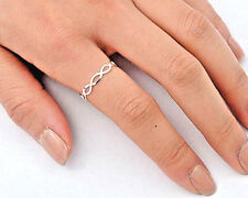 Silver Tiny Infinity Ring Sterling Silver 925 Plain Best Deal Jewelry Size 2