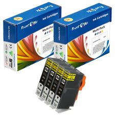 4 Large Compatible Black Ink Cartridges HP 564XL (564XLPK-CN684WN) New XL Chips
