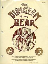 THE DUNGEON OF THE BEAR LEVEL THREE IN ORIGINAL ZIP BAG VF! Tunnels & Trolls TNT