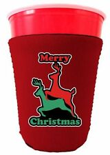 Coolie Junction Merry Christmas Reindeer Humping Funny Solo Cup Coolie
