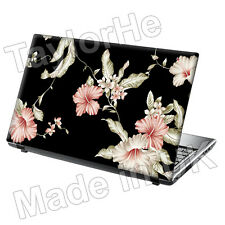 "15.6"" Laptop Skin Cover Sticker pink floral Vintage 249"