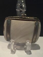Antique Victorian Sectioned Mother Of Pearl Coin Purse