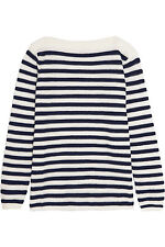 SEE BY CHLOÉ Mesh-paneled striped cotton-blend sweater