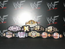 10 x Custom WWF WWE NXT Title Belts For Hasbro Jakks Wrestling Figures ECW