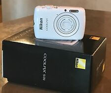 Nikon COOLPIX S01 Camera - White - Box Opened but Never Used