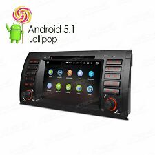 "7"" Quad Cord Android 5.1 Car DVD GPS Radio 3G WIFI DAB for BMW 5er E39 E53 M5 X5"
