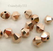 144x SWAROVSKI 5328 ROSE GOLD 2X 4mm XILION BICONE CRYSTAL BEAD