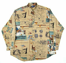 90S VTG POLO RALPH LAUREN RIVERMAN'S JOURNAL SPORTSMAN SHIRT COUNTRY 1992 1993