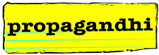 8862 Propagandhi Black Logo on Yellow Notebook Paper Punk Huge Sticker / Decal