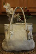 ELLIOTT LUCCA white woven leather tote bag (PU170