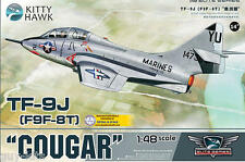 Avion de chasse US. GRUMMAN TF-9J (F9F-8T) COUGAR - KIT KITTY-HAWK 1/48 N° 80129