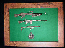 Framed Royal Marines 1/6 scale weapons