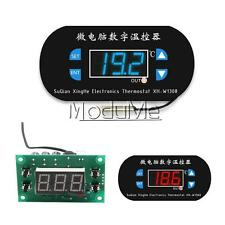 DC 12V Digital Thermostat Temperature Alarm Controller Sensor Meter Blue LED M