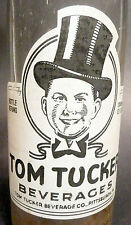 vintage ACL pop SODA BOTTLE- TOMMY TUCKER style #2  PITTSBURGH, PA - 12 oz ACL