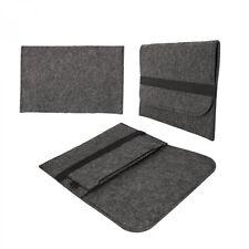 eFabrik Universal Tablet Tasche (8,9 - 10,1 Zoll) Schutz Hülle Filz Dunkelgrau