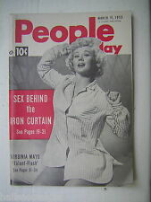 3/11/1953 People Today Magazine with Virginia Mayo cover - 'Aces' Jean Beliveau