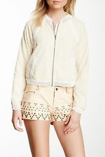 NEW! Free People Sz 8 Shorts PANTS $128 Retail Vegan Faux Leather Studded Peach