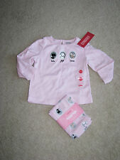 NWT NEW Gymboree Tres Fabulous pink top leggings with puppies 12 18 mo old girl