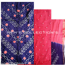 Bandhani / Bandhej Cotton Silk Unstiched Dress Material Salwar, Suit, Dupatta