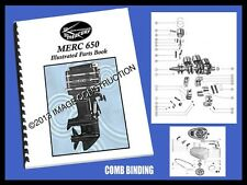 MERCURY Merc 650 & 650-1 - 65HP Outboard Illustrated Manual / Parts Book 35PG