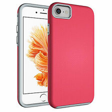 """Shockproof Hybrid Armor Tough Hard Case Cover for Apple iPhone 7 4.7"""" Rose"""