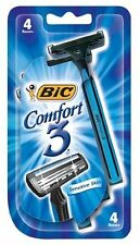 3 Pack - Bic Comfort 3 Shavers for Men, Sensitive Skin 4 Per Package