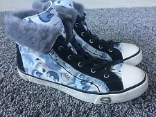 UGG Stellah Claw Graffiti Fur Lined Hightop Sneakers Short Boots Wms 8 eu 39