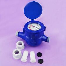 15180516 Plastic Economy Garden Water Flow Measuring Meter 15MM Cold Dry Counter