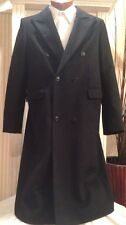 Paul & Joe Navy Cashmere Blend DB  Long Coat Sz 14/16 L France MINT!
