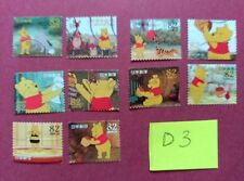 WALT DISNEY CHARACTERS WHINNIE THE POOH   USED JAPAN STAMPS