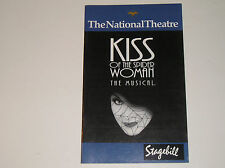Vintage Stagebill Kiss Of The Spider Woman The Musical The National Theatre
