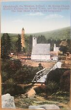 Irish Postcard GLENDALOUGH Wicklow Ireland Deer Stone St Kevin Fergus O'Connor