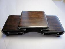 CHINESE BLACK HARDWOOD NICE CARVED BONSAI POT/VASE STAND 3 Layer 135mm 5.3in Au