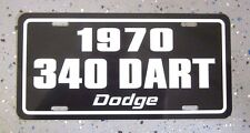 1970 Dodge DART 340 license plate tag 70 High Performance Muscle Car