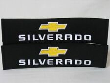 Embroidery Black Seat Belt Cover Shoulder Pads Pair Chevrolet Chevy Silverado