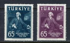 30903) TURKEY 1957 MNH**Benjamin Franklin 2v. Scott# 1259/60