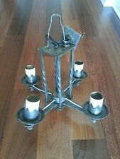 VINTAGE WROUGHT IRON METAL GOTHIC  MEDIEVAL CHANDELIER!