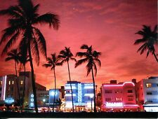 POST CARD OF ART DECO HOTELS IN MIAMI BEACH