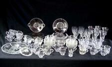 88 Piece Imperial Glass Ohio Candlewick Clear & Elegant China Dinnerware