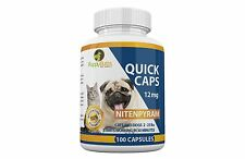 100 Quick Caps Like Capstar  flea control 12 mg Dogs 2-25 lbs