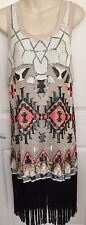 ALL SAINTS STUNNING EMBELLISHED HEAVILY SEQUINNED VEST DRESS SZ 12