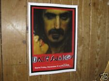 Frank Zappa Repro Tour POSTER Baby Snakes