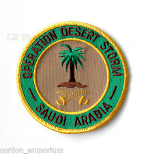 OPERATION DESERT STORM GULF WAR SAUDI ARABIA ARMY EMBROIDERED PATCH 4 INCHES
