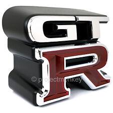 "JDM Nissan 62896-AA400 GT-R R34 Front ""GT-R"" Emblem Badge GTR Genuine Part OEM"
