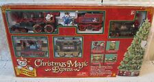 Animated Musical Christmas Magic Express Train Set Battery Locomotive Car Figure